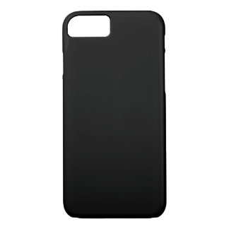 SOLID BLACK (total color coloration, dude!) ~ iPhone 7 Case