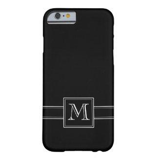 Solid Black with Monogram iPhone 6 Case
