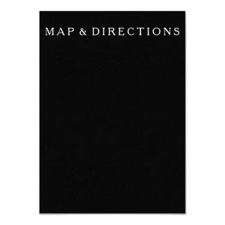 Solid Black with White Wedding Detail 11 Cm X 16 Cm Invitation Card