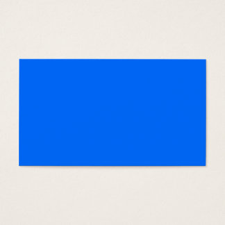 Solid BLUE Business Card