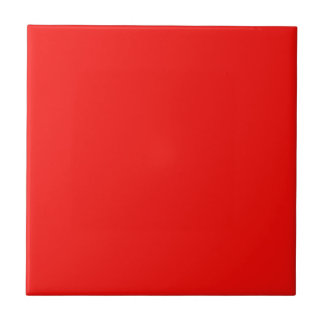 Solid Bright Cherry Red Ceramic Tile