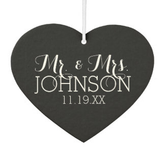 Solid Color Black Mr & Mrs Wedding Favors