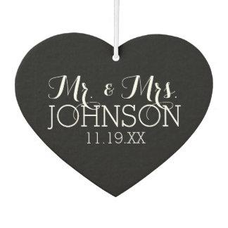 Solid Color Black Mr & Mrs Wedding Favors