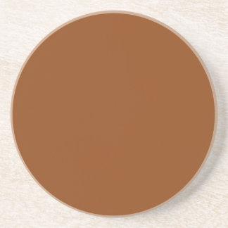 Solid Color: Brown Beverage Coaster