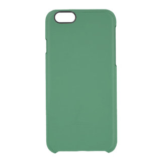 Solid Color: Forest Green Clear iPhone 6/6S Case