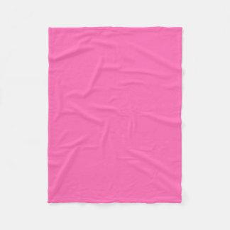 Solid Color: Hot Pink #2 Fleece Blanket