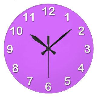 Solid Color: Lilac Purple Wallclock