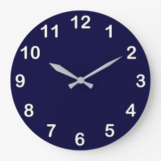 Solid Color: Navy Blue Wall Clock