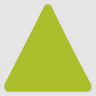 solid color of green algae triangle sticker