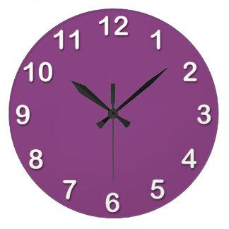 Solid Color: Plum Purple Clock