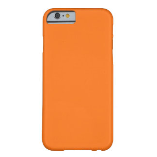 Solid Color: Pumpkin Orange Barely There iPhone 6 Case