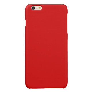 Solid Color: Red iPhone 6 Plus Case