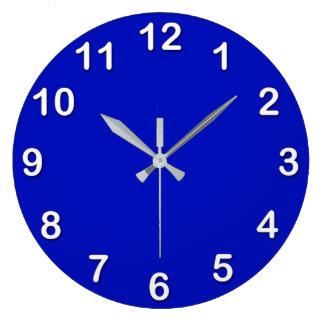 Solid Color: Royal Blue Large Clock