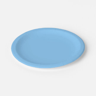 Solid Color: Sky Blue 7 Inch Paper Plate