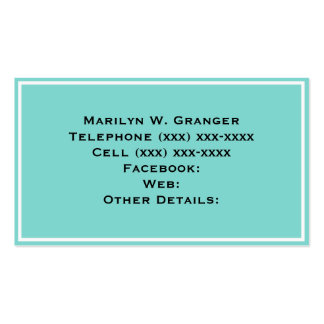 Solid Color Turquoise Aqua Business Cards