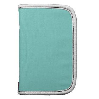 Solid Color Turquoise Aqua Folio Planners
