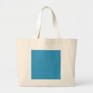Solid Colour Background Blue 3399CC Template Tote Bag