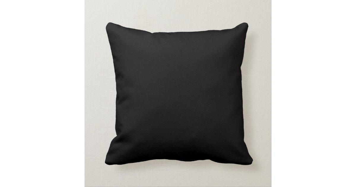 solid colour black 000000 pillow template zazzle co uk