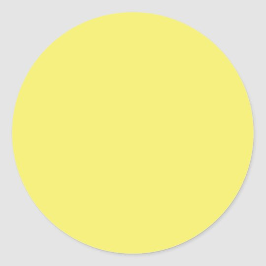 Solid Colour FFFF66 Yellow Background Template Classic Round