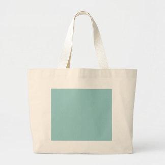 Solid Colour Light Blue 99CCCC Background Bags