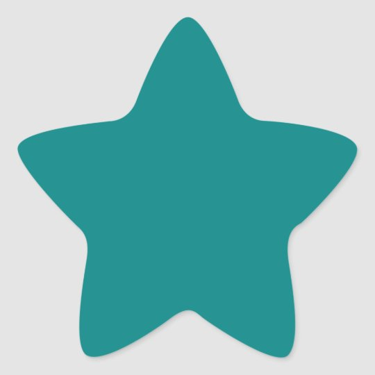 Solid Colour Teal Star Sticker