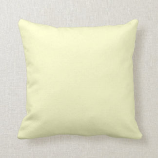 solid cream off white,pale yellow pillow