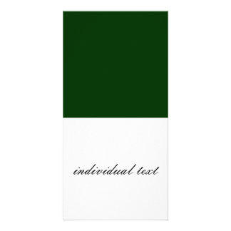 Solid DARK GREEN Picture Card