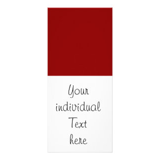 Solid dark RED Customized Rack Card