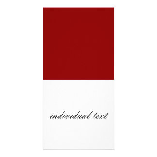Solid dark RED Photo Greeting Card