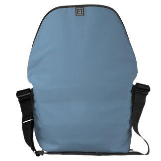 Solid Dusk Blue Messenger Bag