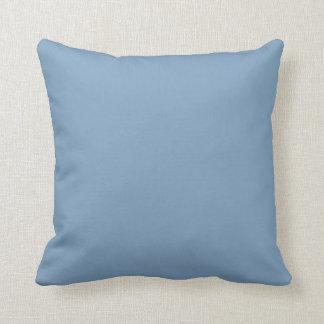 Solid Dusk Blue Throw Pillows