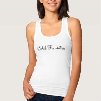 """Solid Foundation"" Racerback Tank Top"