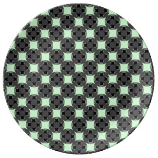 Solid Four Star Circle Cross by Kenneth Yoncich Plate