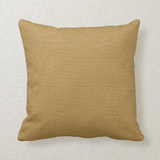 Solid Gold Throw Pillow