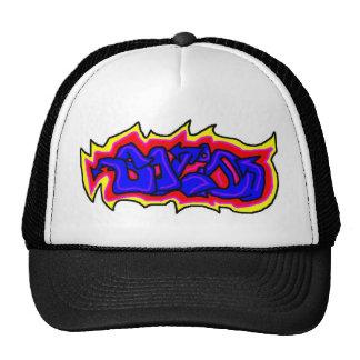 Solid graffiti mesh hats