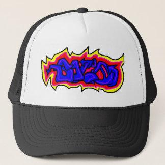 Solid graffiti trucker hat