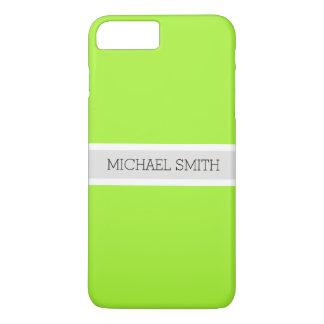 Solid Green Modern Platinum Ribbon Elegant Name iPhone 8 Plus/7 Plus Case