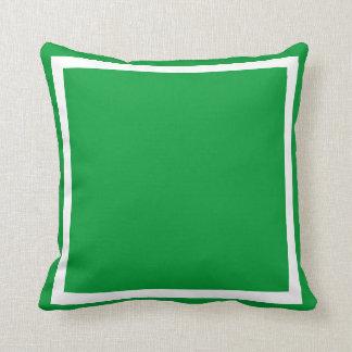 solid  green plain pillow