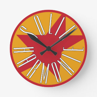 Solid HarmoniE Classic Logo Round Clock