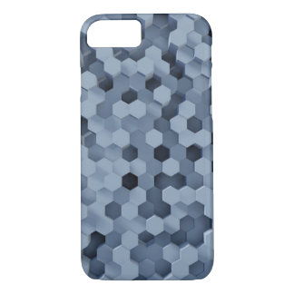 Solid Honeycombs Steel Blue iPhone 8/7 Case