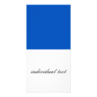 Solid INKY BLUE Photo Card Template