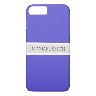 Solid Iris Modern Ribbon Elegant Name iPhone 8 Plus/7 Plus Case