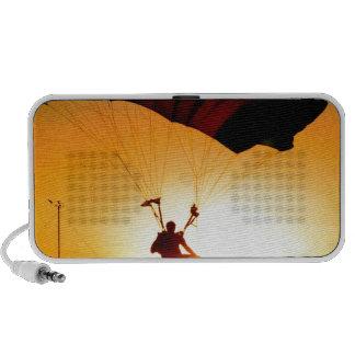 Solid landing parachute sunset portable speakers