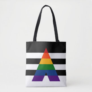 Solid LGBT Ally Pride Flag Tote Bag