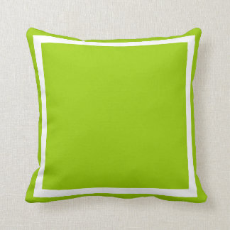 solid lime green pillow