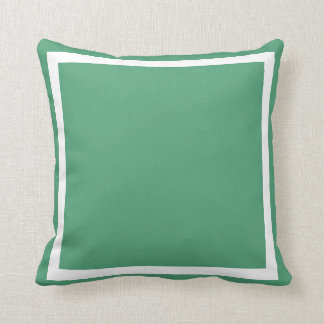 solid medium  blue green plain pillow