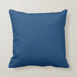 Solid Monaco Blue Throw Pillows
