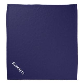 Solid Navy Blue Blue Background, Name Monogram Kerchiefs