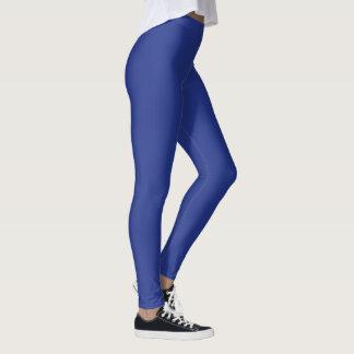 Solid navy blue designer yoga leggings