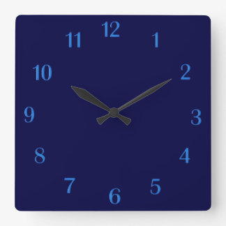 Solid Navy Blue Wall Clock